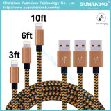 Nueva 1m promocional de llegada / V8 de carga del puerto USB y transferencia de datos USB 2.0 cable trenzado Tela