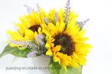 Flores artificiais do girassol do girassol de seda da qualidade de Hight