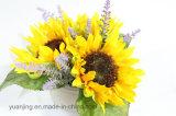 Flores de seda do girassol do girassol da qualidade de Hight