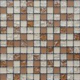 Mattonelle di mosaico di vetro Cracked, mosaico arancione di colore
