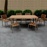 Metallgarten-im Freienmöbel-Kaffee-Gaststätte AluminiumPolywood Stuhl-Tisch-Set