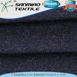 Non il filato dell'indaco di stirata ha tinto 100% il tessuto del denim lavorato a maglia cotone