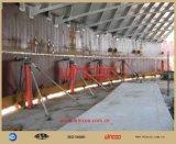Martinetti idraulici usati per la costruzione del serbatoio