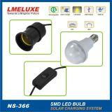 Luz Home solar portátil com sistema de energia solar da bateria Lm-366 de 12V 5ah