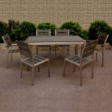 Insieme di alluminio della Tabella della presidenza di Polywood della mobilia del giardino del metallo del ristorante esterno del caffè