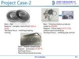 El hardware estructural móvil de las piezas usado en teléfono móvil parte industria