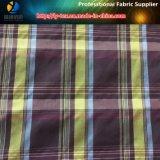Poliestere/tessuto mescolato di nylon della camicia dell'assegno tinto filato