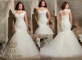 Крышка плеча добавочного размера мягкая сетчатая съемная с шнурком Alencon Appliques Bridal платье венчания