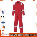 Hohe Sicht-rote Flughafen-Arbeitskleidung mit reflektierendem Band-Overall