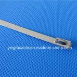 Verschluss-Edelstahl-Kabelbinder der Kugel-4.6*250 mit korrosionsbeständigem