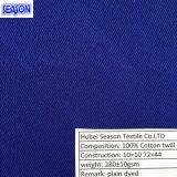 Tela de algodón teñida 270GSM de la tela cruzada del algodón 10*10 72*44 para la ropa de funcionamiento
