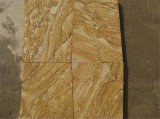 China arenisca pavimentación barata natural de madera de piedra arenisca amarilla