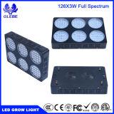 심천 126PCS/LED3w LED는 실내 플랜트 Veg와 꽃 5292lm를 위한 가벼운 가득 차있는 스펙트럼을 증가한다