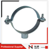 Abrazadera inoxidable galvanizada metal ajustable de la montura del tubo de acero del corchete