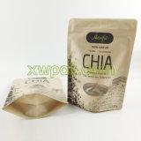 Sacchetto stampato abitudine della carta kraft Con la finestra per i semi di Chia