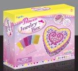 Niños de bricolaje cola de color Toy-Sticky Mosaico-Princesa caja de joyas y espejo