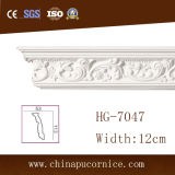 Cornisa de techo clásico decorativo corona de la PU / PU
