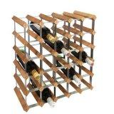 Шкаф бутылки полки вина Relaxdays Free-Standing Bamboo с стойкой вина держателя консервооткрывателя пробочки и бутылки, естественной
