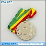 金属のカスタムメダルカスタム銀製ブランクメダル硬貨賞の円形浮彫り
