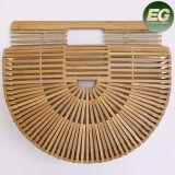 Мешок Tote пляжа нового мешка корзины круглой формы прибытия половинного Bamboo сделанный в фабрике Китае T112 Гуанчжоу