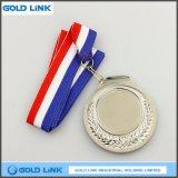 Souvenir blanc argenté fait sur commande de médaillon de récompense de pièce de monnaie de médaille de médaille en métal