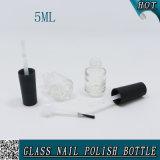 kleine leere Glas5ml nagellack-Flasche mit Pinsel und Schutzkappe