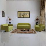 Jogos verdes do sofá da sala de estar do quarto do hotel da tela da forma com braço (SP-KS372)