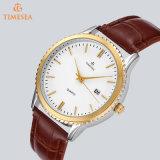 Cuir Mode Hommes quartz en acier inoxydable montre-bracelet 72305