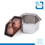 Stufa di campeggio portatile dell'interno della stufa dell'alcool del bronzo dell'acciaio inossidabile 201
