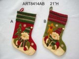 Stock de neige avec boutons tricotés-Décoration de Noël