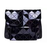 Schwarze PU rhombische geometrische Dame Handbag (M005-4)