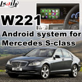Sistema di percorso Android di GPS per l'interfaccia del video del codice categoria W221 di Mercedes-Benz S