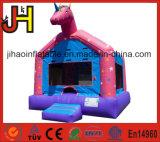 Château sautant gonflable coloré de videur de Chambre de thème de cheval