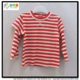 남녀 공통 아기 의복 백색 유아 t-셔츠