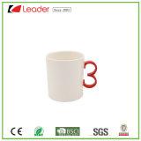 taza de cerámica de la maneta única roja 10oz