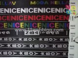 나일론 폴리에스테 자카드 직물 가죽 끈은 의류 의복 부속품에 적용한다