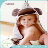 最新の動物プリントフード付きの赤ん坊タオル