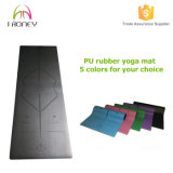 High End Yoga Mat 1/5-Inch Extra Thick PU Leather Yoga Mat-Non Slip e durável, Mat para Yoga, Dança, Pilates e Fitness