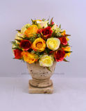 Fiore artificiale del mazzo della Rosa di nuovo disegno Nizza in urna