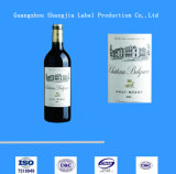 De edele Sticker Van uitstekende kwaliteit van de Wijn van het Etiket van de Rode Wijn Zelfklevende
