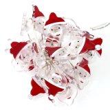 Рождество Santa Claus освещает вверх батарею Fairy света шнура управляемую на праздники