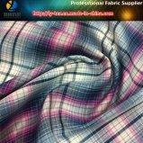 Tela teñida hilado hecha girar poliester para la camisa ocasional, tela de la verificación de Shirting del poliester