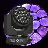 Pista móvil de la iluminación 19PCS 15W RGBW LED de la etapa del B-Ojo K10