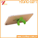 Silicone Funny Smart Phone Sticker Card Holder para Desk, Lazy Mobile Phone Holder