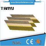 34度によって切られるDのヘッドペーパーストリップの釘は、照合された釘3.05X75mmのスムーズな明るい壁紙を張る