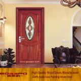 Festes Holz-Innenraum-Tür mit ausgeglichenem Glas (GSP3-006)