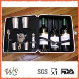 Ws-C01 Custom Logo 5-Pieces 350ml Acier inoxydable Cocktail Shaker Bar Set