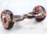 Hoverboard eléctrico de 10 pulgadas con la luz que destella, Bluetooth, rueda grande