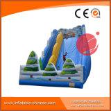 Corrediça inflável T4-300 do mundo da casa verde do castelo inflável inflável do Bouncer