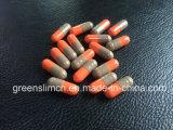 Orange et capsule grise de perte de poids de pillules de régime